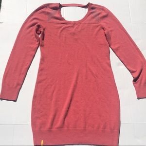 Lole Muted Red Imagine 2 Open Back Sweater Dress